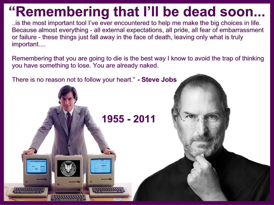 Steve Jobs on death